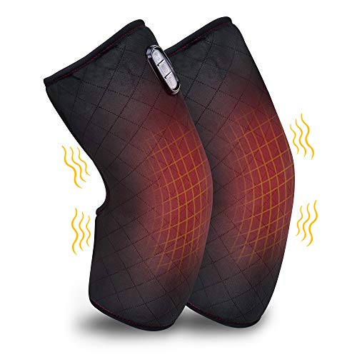 Comfer Heated Knee Brace Wrap with Massage,Vibration Knee Massager with Heating Pad for Knee Pain,Leg Massager,Heated Knee Pad for Arthritis Join Pain Relief