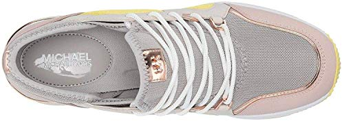 Michael Michael Kors Liv Trainer Aluminum Small Air Mesh/Vachetta/Mirror Metallic 7.5
