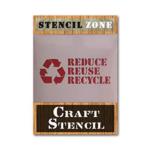 Mylar AIRRUSH - Plantilla de pintura para pared, diseño de cartel de reciclaje A2 Stencil - Large