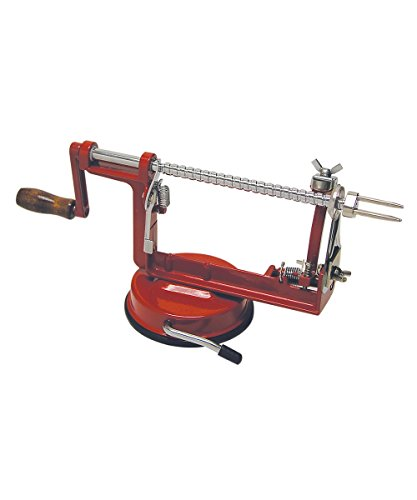 R&M International 5920 Apple Peeler Machine with Suction Mount, Peels, Cores and Slices
