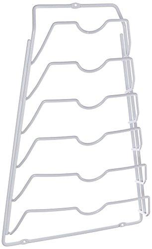 Organize It All 1963W Metal Pot Lid Rack, White, 10.63