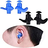 Swimming Earplugs,2 Pair Reusable Waterproof Silicone Swimming Ear Plugs for Swimming,Surfers, Swimmers,Adults, Kids, Diving and Other Water Athletes
