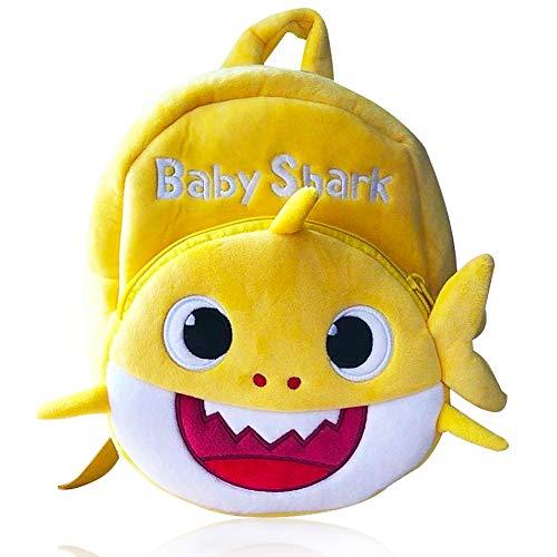 BETOY Shark Toddler Backpack, Fun Musical Backpack for Kids School Bag for Kids Shark Backpack (Yellow)