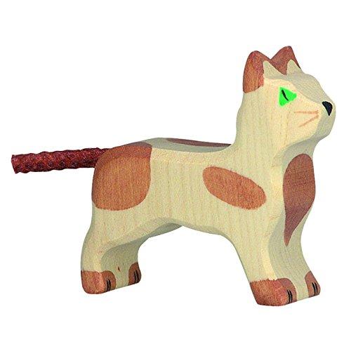 Holztiger Katze, stehend, klein, 80057