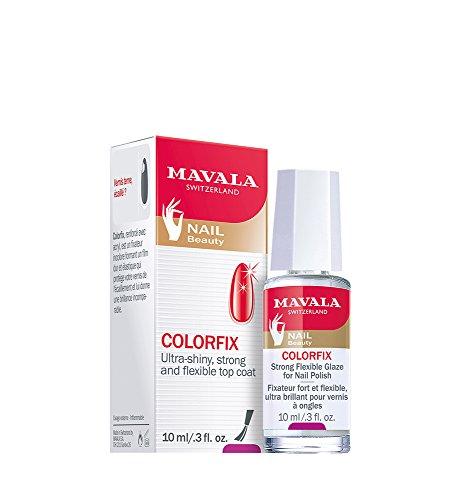 Mavala Colorfix Top Coat Esmalte de Uñas que Prolonga la Duración de la Manicura | Da Brillo - Refuerza - Elastiza, 10 ml