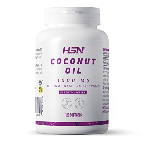 Aceite de Coco de HSN | 1000 mg Coconut Oil | Ácidos Grasos de Cadena Media (MCT