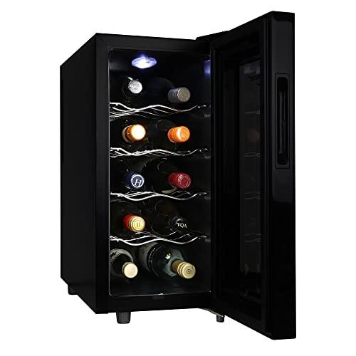 Koolatron Urban Series 10 Bottle Wine Cooler, Thermoelectric Wine Fridge, 1 cu. ft. Freestanding Wine Cellar for Small Kitchen, Apartment, Condo,...