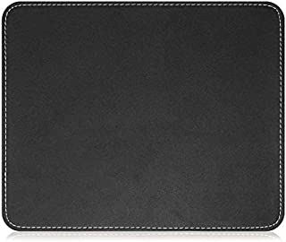Sponsored Ad - Insten Premium Leather Mouse Pad with Waterproof Coating, Non Slip & Elegant Stitched Edges, Black