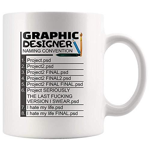 DKISEE Graphic Designer Naming Convention Coffee Mug Graphic Designer Gifts Photoshop Mug Web Designer Mug Web Designer Gifts 11oz