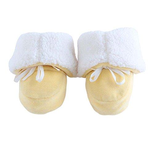 Garder au chaud Berceau Chaussures bébé Chaussures Hiver Chaussures Infant Coton Sole