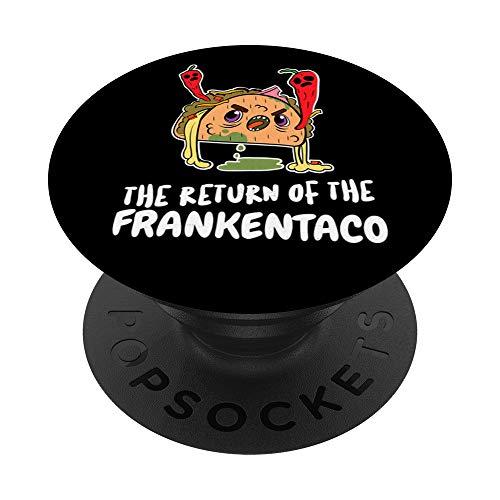 Disfraz de Frankenstein Taco divertido Halloween PopSockets Agarre y Soporte para Telfonos y Tabletas
