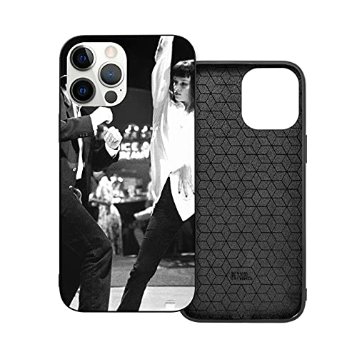 Compatible con iPhone 12/11 Pro MAX 12 Mini SE X/XS MAX XR 8 7 6 6s Plus Funda Pulp Fiction Dance Black Cajas del Teléfono Cover