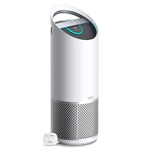 Leitz TruSens Z-3000 HEPA Luftreiniger mit SensorPod Luftqualitätsmesser und UV-C Lampe fängt luftübertragene Schadstoffe, für gereinigte Raumluft in mittelgroßen Räume bis 70 m², 2415114EU