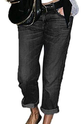 Babao Dames Straight Jeans Klassieke Denim Broek Rechte Jeans