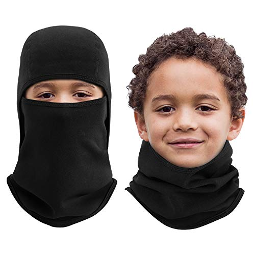 Aegend Kids Balaclava Windproof Ski Face Mask for Cold Weather, 1 Piece, Black