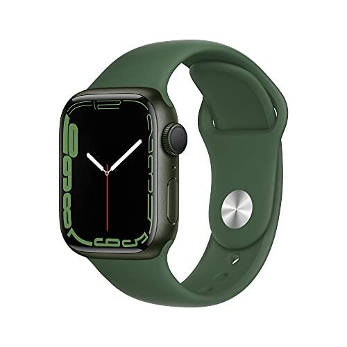 Apple Watch Series7 (GPS) Cassa 41mm in alluminio verde con Cinturino Sport color trifoglio - Regular