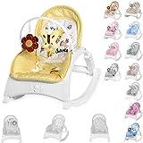 Silla y hamaca para bebé Lorelli ENJOY con vibración, música, respaldo ajustable, color:amarillo