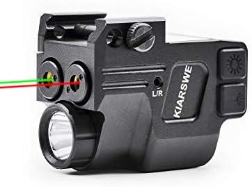 KIARSWE Shockproof Laser Flashlight Combo 500 Lumens Laser Light Combo for Pistol Red or Green product image