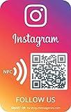 2 Pegatinas Instagram con Smart QR/NFC | Aumenta seguidores en 1 clic | QR's reutilizables siempre que quieras | Ideal para pegar en el portátil, iphone o tablet
