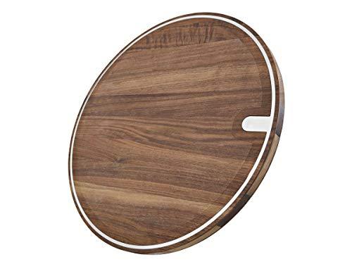 LIONSBLADE Holz-Balance Board, Balance Board mit edler Walnussholz-Standfläche, Ø 40cm, Ink Übungsbeispielen Fitness Sport Gleichgewichtstrainer Zuhause Training