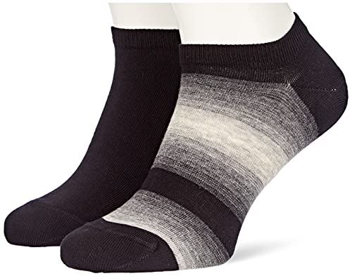 Tommy Hilfiger Baja Stripe Men's Sneaker Socks Zapatillas, Black, 43 Regular para Hombre