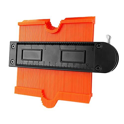 Medidor de Contornos con Bloqueo,LangRay 10in Duplicador de Contorno de Precisión Plástico ABS Medidor de Perfiles Precisa Medición para Esquinas Irregulares Curvas y Laminado