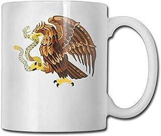 Tasse à café Mexique serpent pygargue à tête blanche Clip Art personnalisé tasse à café / 11 oz tasse à thé en céramique -...