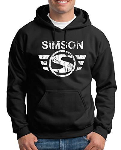 TShirt-People Simson Logo Kapuzenpullover Herren L Schwarz