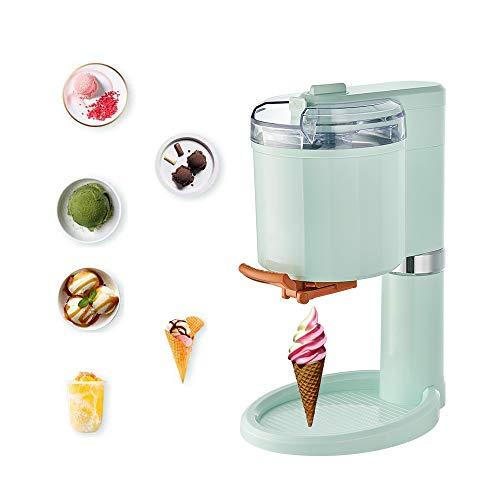 Máquina de postres de frutas congeladas, máquina de helados automática para el hogar + máquina de helados de 1L Cocina DIY, Máquina para hacer rollos de helado, Parrilla de yogur congelado