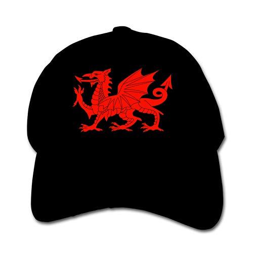 Welsh Flag Dragon Unisex Kinder Mütze Sonnenhut Hip Hop Kappe Verstellbare Sportkappe Teen Hut Kinder Entenschnabel Kappe