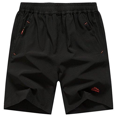 Geval Men Outdoor Big and Tall Quick Dry Randonnée et Shorts de Camping L Noir