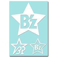 絵柄だけ残る ステッカー M 「B'z#2」 白 064W