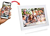 Grouptronics UK Gallery10 WiFi Digital Photo Frame - 10 Inch, Send Photos or Video to Frame Via App Worldwide - Touch Screen, Auto Sleep, Auto Rotate - Landscape or Portrait, 16GB - White