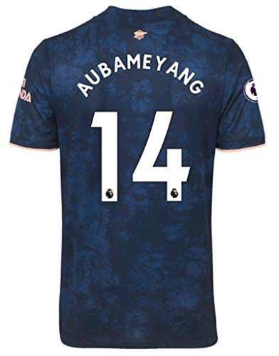 Jertinhf 2020-2021 Men's Third Soccer Jersey/Short Colour Navy (Arsenal Aubameyang #14 (S))