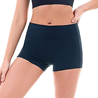 BEESCLOVER Stretchy Slim Fit Sport Shorts Women Hip Fitness Gym Shorts High Waist Solid Yoga Dance Shorts