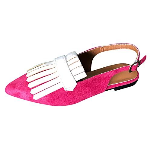 Sandalias de Mujer Zapatos De Tacón Alto Ancho, Sandalias De Vestir En Contraste Punta Redonda Zapatillas con Hebillas Sandalias Romanas De Boda Fiesta De Baile Sandalias