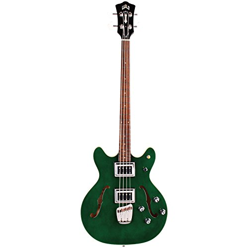 Guild Guitars Starfire Bass II Semi-Hollow Body Bass Guitar, in Emerald Green, Double-Cut, Newark St. Collection, with Hardshell Case