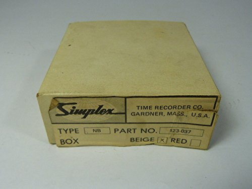 Simplex 123-037-B Fire Luxury goods Alarm Back Finally resale start Beige Type Box NB