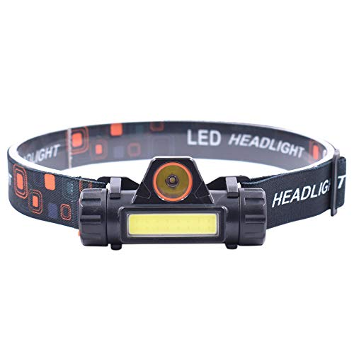 Bedler Mini USB LED COB Recargable Linterna Frontal Linterna Brillante de 400 lúmenes con Base magnética IPX4 Linterna Resistente al Agua para Acampar Senderismo Pesca