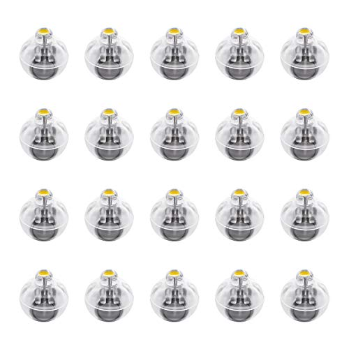 FEPITO 20 Pz LED Palloncini Luci Lanterne Luci Luce Gialla Calda Non Lampeggiante per la Decorazione della Festa Nuziale di Natale