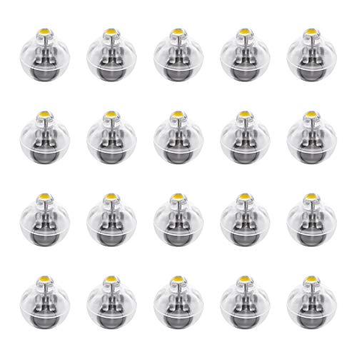 FEPITO 20 Stück LED Luftballons Lichter Laternen Lichter Nicht blinkend warmes gelbes Licht für frohes neues Jahr Hochzeitsfeier Dekoration