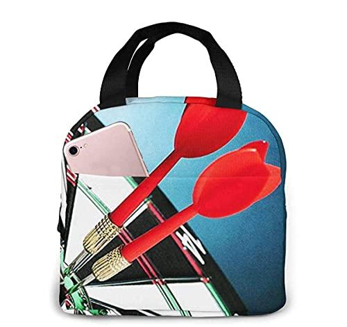 Borsone per freccette 1 borsa termica per il pranzo per donna uomo, borsa termica riutilizzabile per pranzo al sacco con tasca frontale