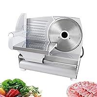 肉スライサー、電気調理済み食品肉野菜パンスライサー、防水電源スイッチ、家庭用調整可能な厚さ0〜15 mm、ブレード7.5インチ