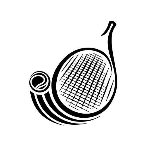 3 piezas de pegatinas de coche 11,6 CM * 13,8 CM raqueta de tenis pegatinas de advertencia reflectantes a prueba de agua para parachoques de ventana motocicletas calcomanías de estilo decoración DIY