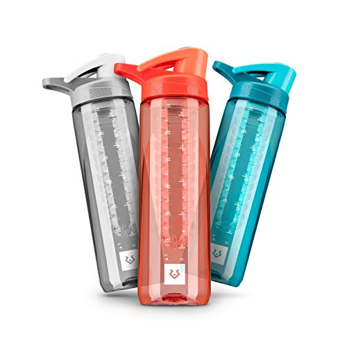 Alphatrail Botella Agua Tritan Jacob 750ml Naranja I 100% Prueba de Fugas I sin BPA & Ecológicamente I Seguro Lavavajillas I Abertura para Beber Funcional para una óptima hidratación