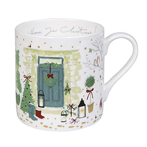 Sophie Allport Holly & Berry'Home for Christmas!' Tazza, Bone China, large
