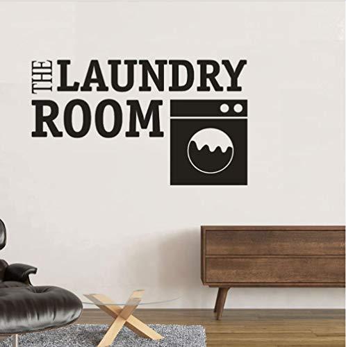 De waskeuken teken muurtattoos wasmachine design logo vinyl muur sticker wasmachine winkel vinyl kunst