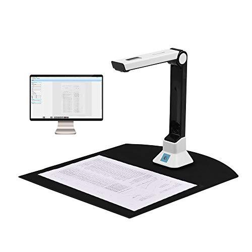 Aibecy BK50 Dokumentenscanner Portable 5 Megapixel A4 Scanner Dokumentenkamera Buchscanner Unterstützung 7 Sprachen Deutsch/Russisch/Französisch/Japanisch/Spanisch/Italienisch/Englisch