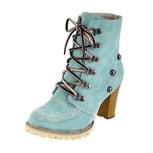 Logobeing Botas Mujer Invierno/Botas de Mujer Casual Zapatos Mujer Remaches Botines Mujer...