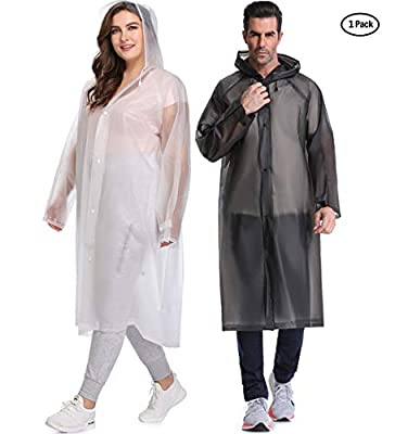 Thicken Rain Poncho,EVA Raincoat With Hoods and Sleeves,No Chemical Smell.